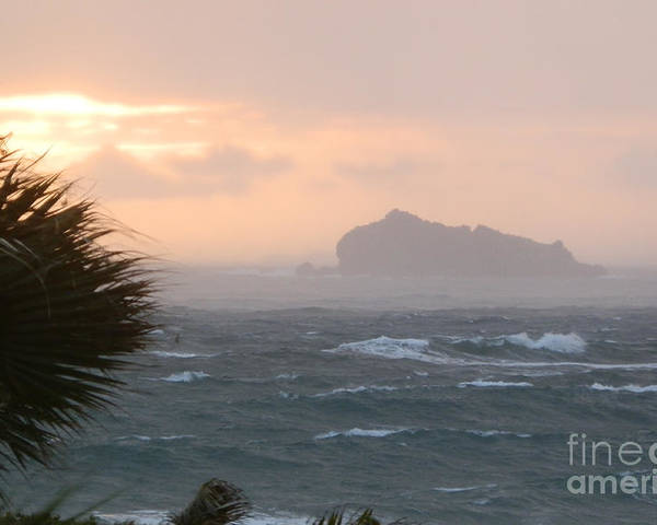 St. Maarten Poster featuring the photograph Rainy Xmas Sunrise by Margaret Brooks