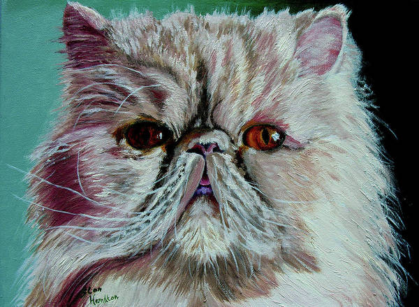 Cat Portrait Poster featuring the painting Ralph by Stan Hamilton