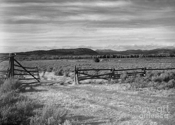 Christian Slanec Poster featuring the photograph Ranch Road by Christian Slanec