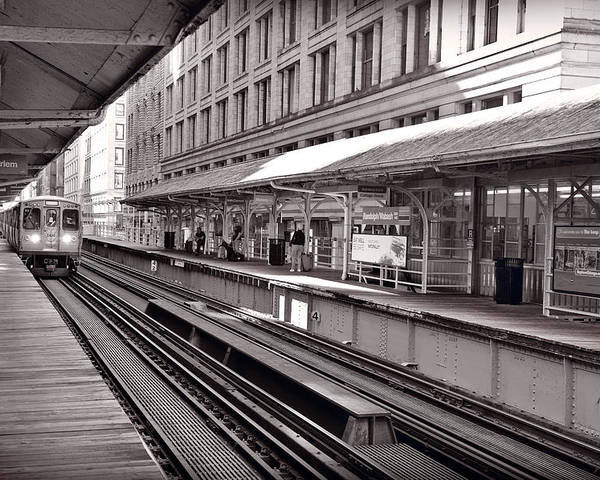 Cta Poster featuring the photograph Randolph Street Station Chicago by Steve Gadomski