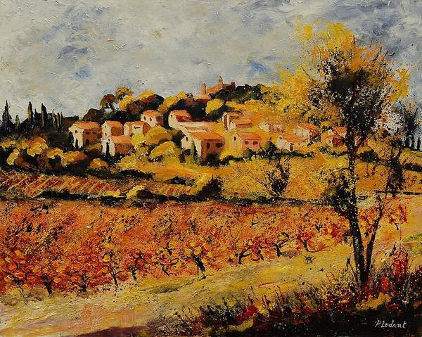 Provence Poster featuring the painting Rasteau Vaucluse by Pol Ledent