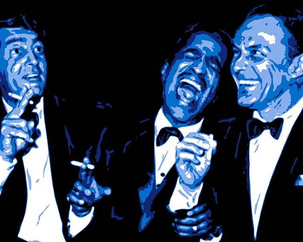 Frank Sinatra Poster featuring the digital art Rat Pack At Carnegie Hall by DB Artist