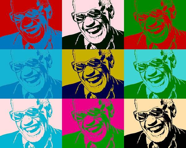Ray Charles Pop Art Poster Poster featuring the digital art Ray Charles Pop Art Poster by Dan Sproul