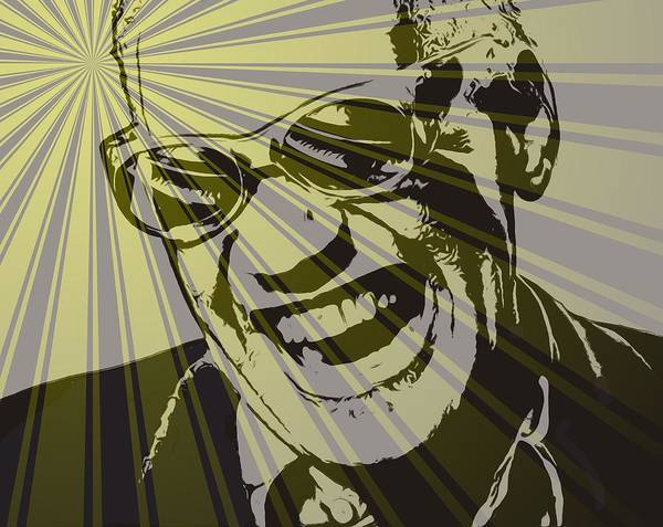 Ray Charles Poster featuring the digital art Ray Charles Poster by Dan Sproul