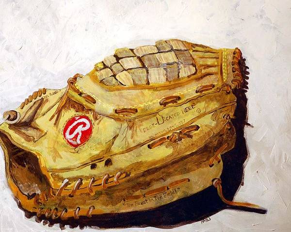 Outfield Poster featuring the painting Rbg 36 Dale Murphy by Jame Hayes