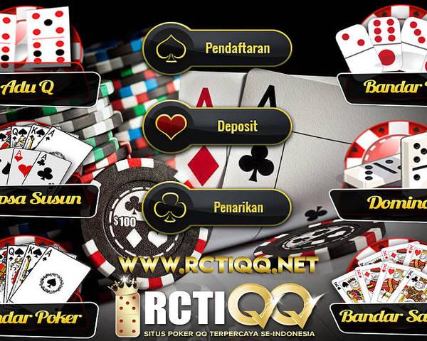 Rctiqq Com Agen Judi Poker Dominoqq Bandarq Sakong Online Terpercaya Indonesia Poster By Rctiqq 7 Games Dalam 1 User Id