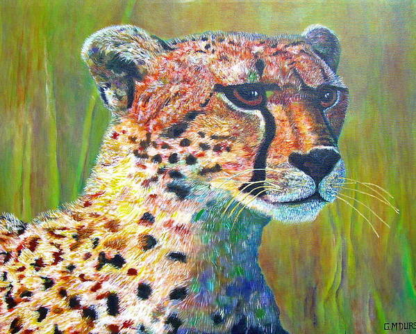Cheetah Poster featuring the painting Ready For The Hunt by Michael Durst