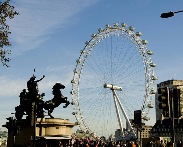 London Eye Poster featuring the photograph Ready To Ride by Charles Ridgway