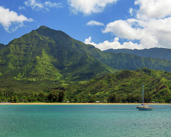 Sailboat Poster featuring the photograph Ready To Sail In Hanalei Bay by James Eddy