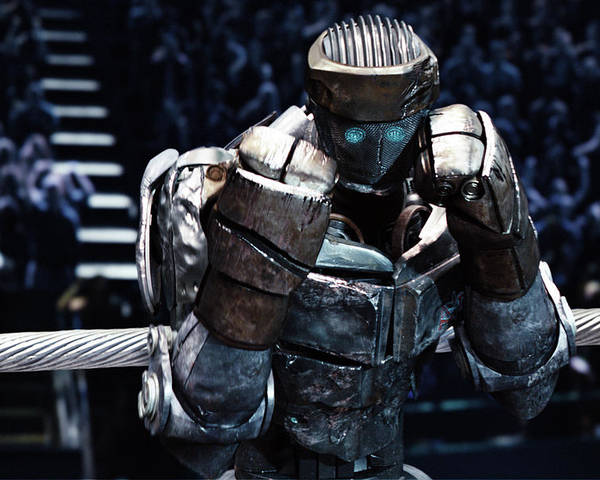 Real Steel Poster featuring the mixed media Real Steel Atom by Movie Poster Prints