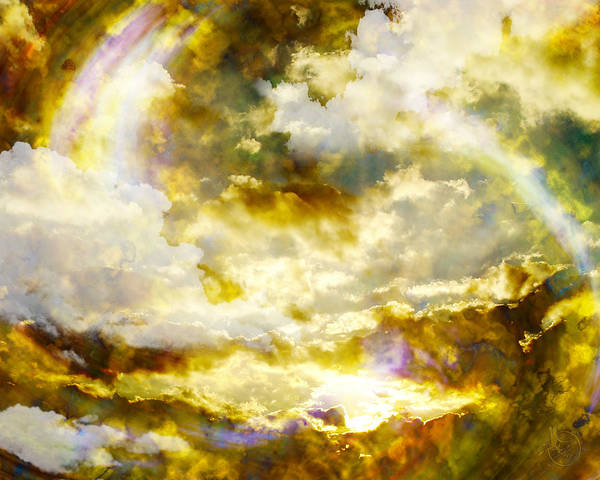 Clouds Poster featuring the digital art Realm Of Angels by Gae Helton