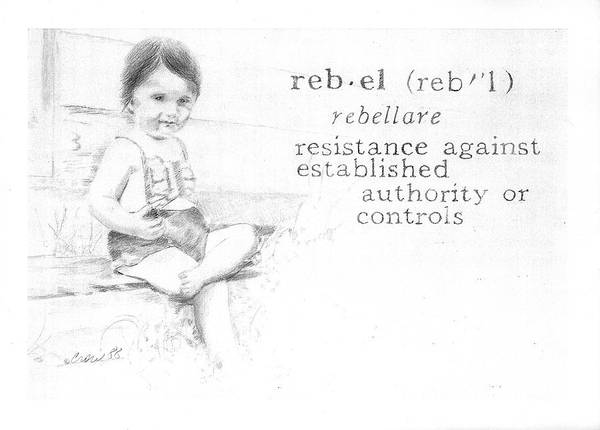 Kids Poster featuring the painting Rebel by Janice Crow