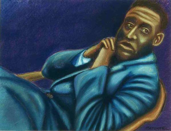 Poster featuring the pastel Reclining Man by Helen O Hara