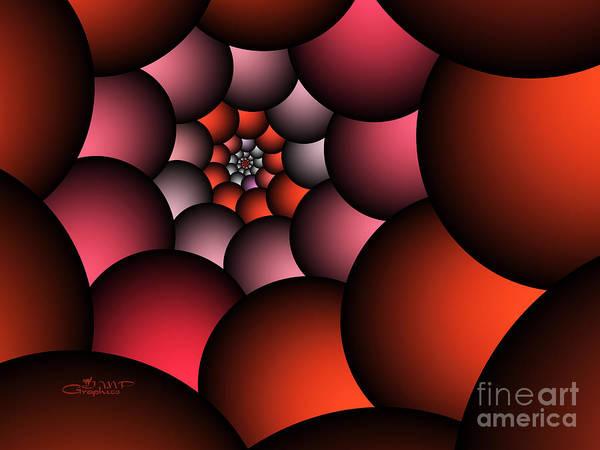 Fractal Poster featuring the digital art Red Alert by Jutta Maria Pusl