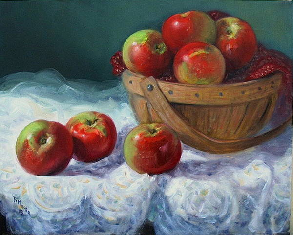 Realism Poster featuring the painting Red And Green by Donelli DiMaria