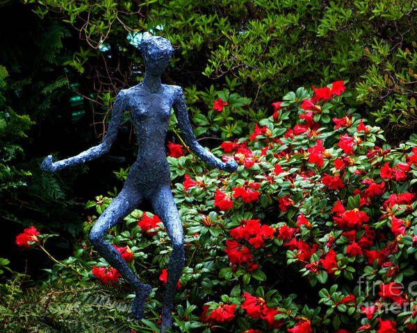 Red Azalea Lady Poster featuring the photograph Red Azalea Lady by Susanne Van Hulst