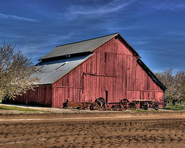Barn Poster featuring the photograph Red Barn by Jim And Emily Bush