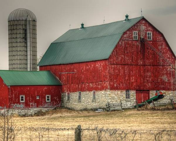 Rcouper Poster featuring the photograph Red Barn11 by Rick Couper