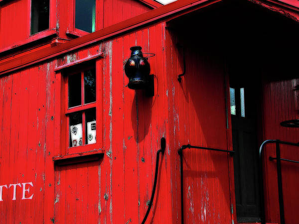 Hovind Poster featuring the photograph Red Caboose by Scott Hovind
