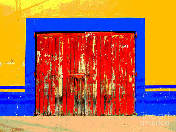 Darian Day Poster featuring the photograph Red Door By Darian Day by Mexicolors Art Photography