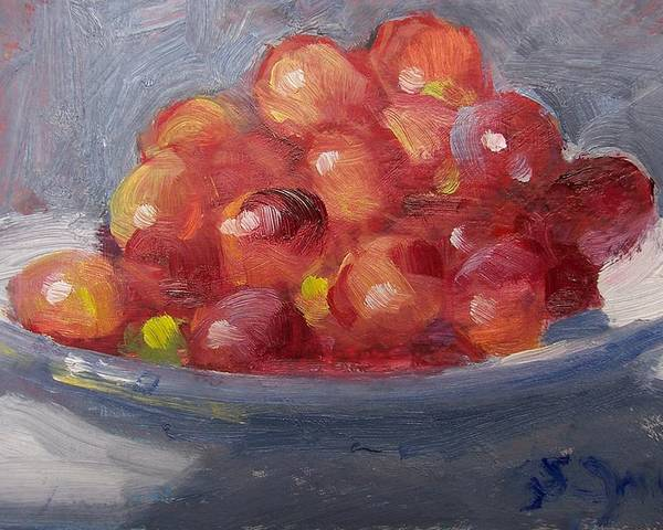 Grapes Poster featuring the painting Red Grapes by Susan Jenkins
