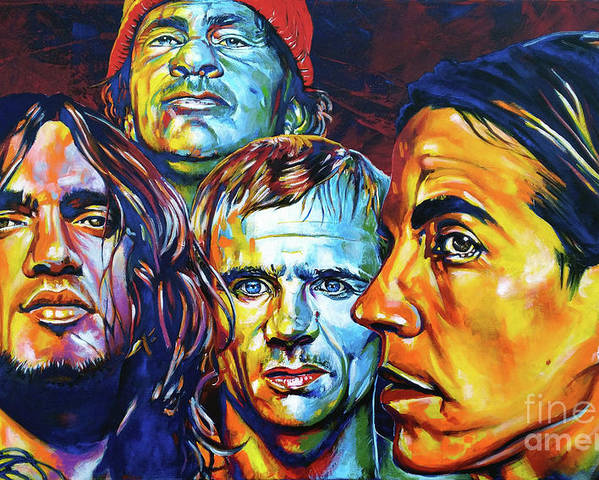 Red Hot Chili Peppers Poster By Christian Cazalet
