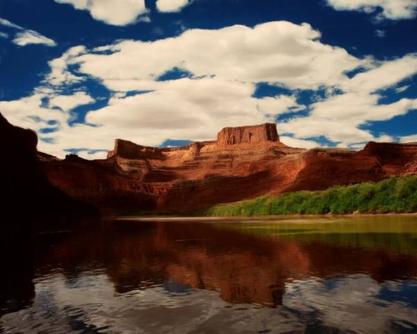 Digital Poster featuring the painting Red Mountain by Lori DeBruijn