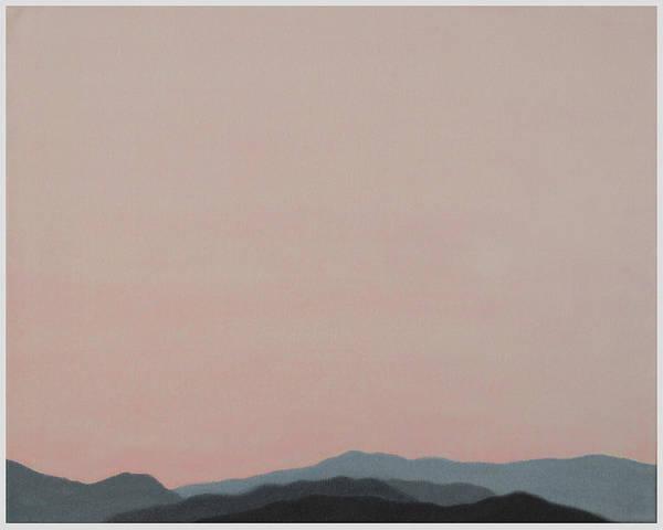 San Jacinto Mountain Range Poster featuring the painting Red San Jacintos by Stan Magnan