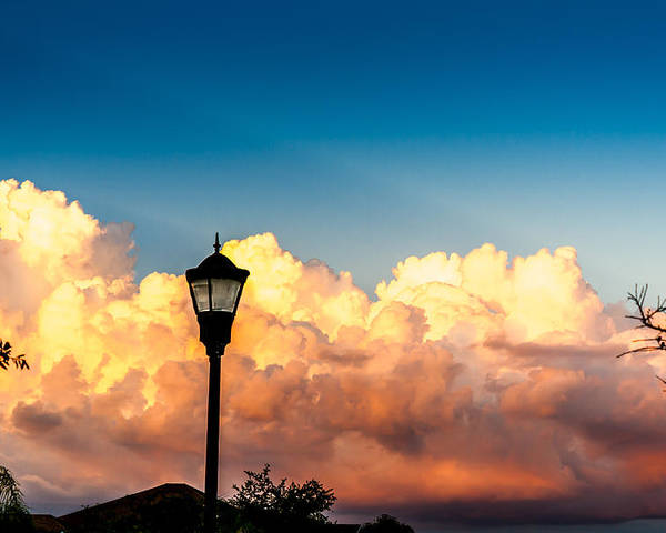 Sky Poster featuring the photograph Storm Clouds During Sunset by Christopher Jones