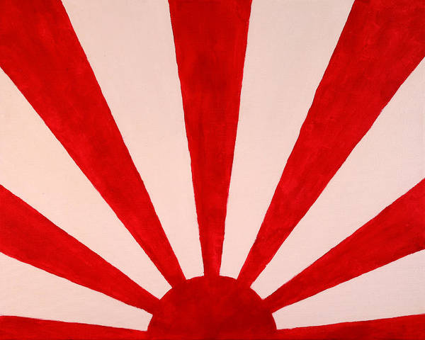 Red Poster featuring the painting Red Sun by David Stasiak