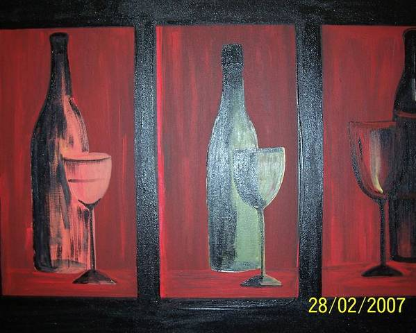 Stilllife Poster featuring the print Red Wine by Martha Mullins