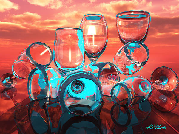 3d Poster featuring the painting Merlot by Williem McWhorter