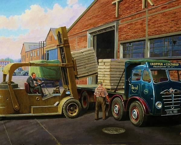 Commission A Painting Poster featuring the painting Reed Paper Foden Fg by Mike Jeffries