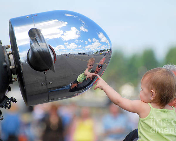 Children Poster featuring the photograph Reflection by Larry Keahey