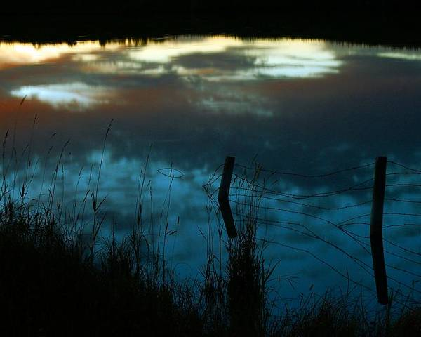 Reflection Of The Sky Poster featuring the photograph Reflection Of The Sky In A Pond by Mario Brenes Simon