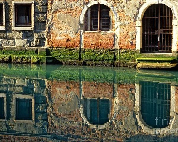 Venice Poster featuring the photograph Reflection On Canal In Venice by Michael Henderson
