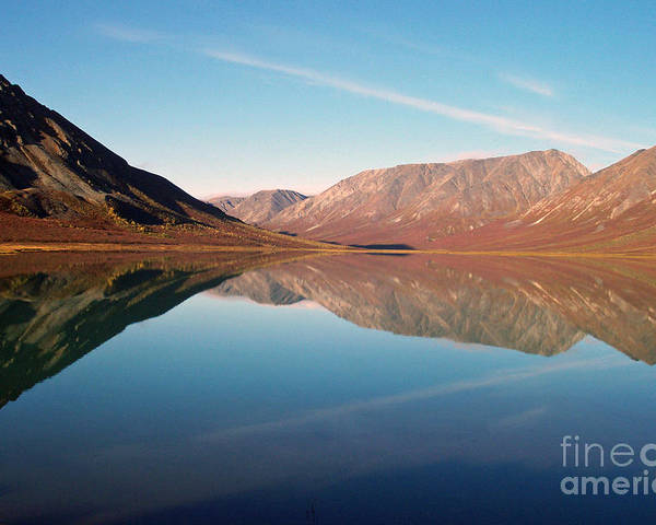 Lake Poster featuring the photograph Mountains Reflected On A Beautiful Lake by Denise McAllister