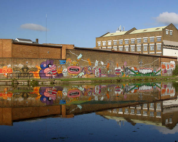 Jez C Self Poster featuring the photograph Reflective Canal 4 by Jez C Self
