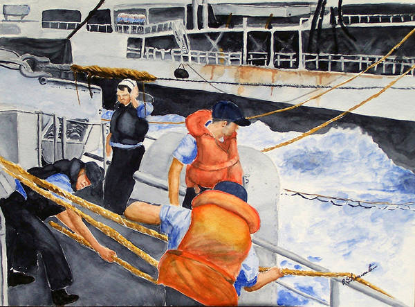 Navy Poster featuring the painting Refueling by Robert Thomaston