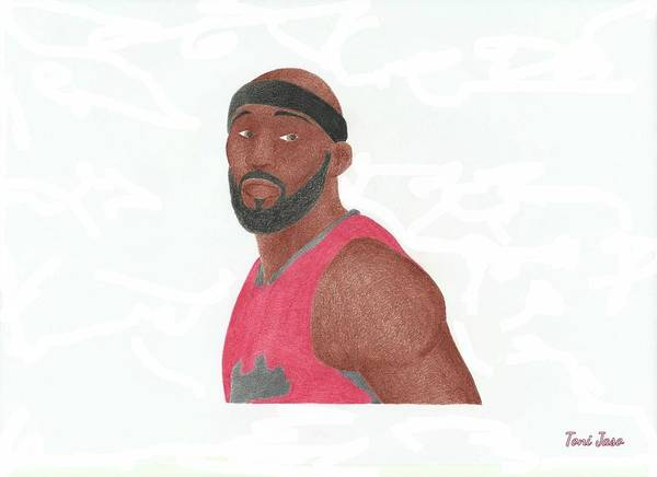 Basketball Poster featuring the drawing Reggie Evans by Toni Jaso