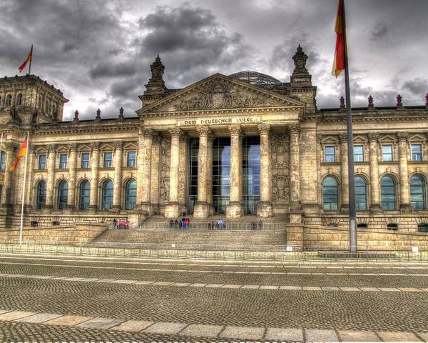 Berlin Poster featuring the photograph Reichstag Building by Jon Berghoff