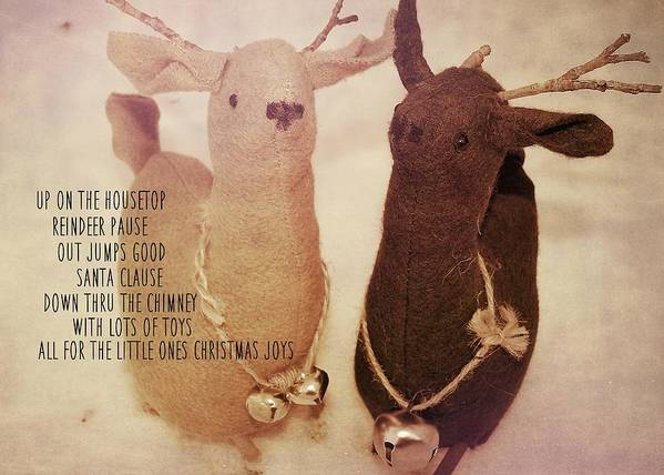 Reindeer Poster featuring the photograph Reindeer Joys Quote by JAMART Photography