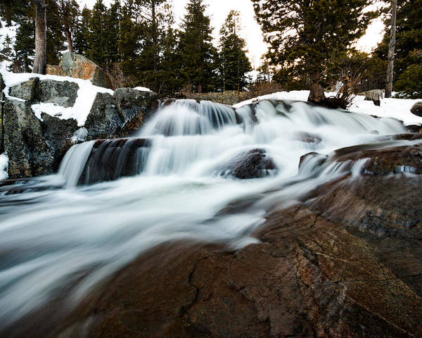 Landscape Poster featuring the photograph Rejuvenating Eagle Falls by Mike Herron