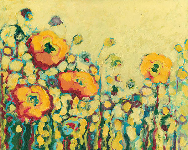 Floral Poster featuring the painting Reminiscing on a Summer Day by Jennifer Lommers
