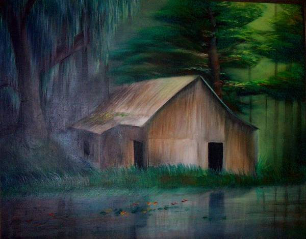 Landscape Poster featuring the painting Remnants by Angelina Benson