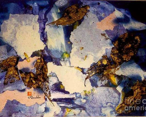Collage Poster featuring the mixed media Renewal by Norma Boeckler