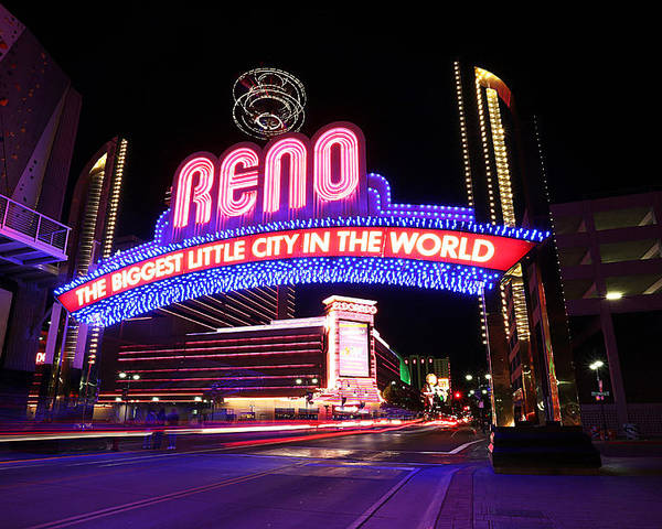 Reno Poster featuring the photograph Reno - The Biggest Little City in the World by Shawn Everhart