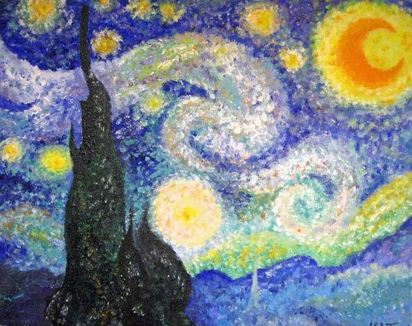 Replicas Poster featuring the painting Replica Of Van Gogh by Katerina Wagner