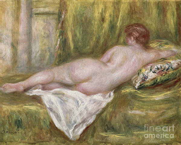 Renoir Poster featuring the painting Rest After The Bath by Pierre Auguste Renoir