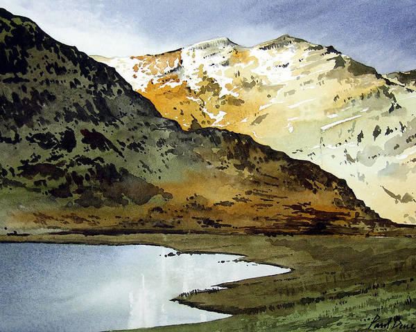 Watercolour Landscape Of Scottish Mountains Poster featuring the painting Rest And Be Thankful Pass by Paul Dene Marlor